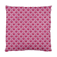 Scales2 White Marble & Pink Denim Standard Cushion Case (two Sides)