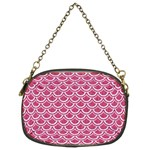 SCALES2 WHITE MARBLE & PINK DENIM Chain Purses (Two Sides)  Front