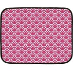 SCALES2 WHITE MARBLE & PINK DENIM Fleece Blanket (Mini) 35 x27 Blanket