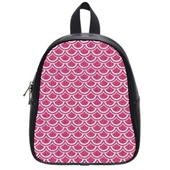 Scales2 White Marble & Pink Denim School Bag (small)