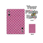 SCALES2 WHITE MARBLE & PINK DENIM Playing Cards 54 (Mini)  Front - Spade5