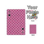 SCALES2 WHITE MARBLE & PINK DENIM Playing Cards 54 (Mini)  Front - Spade7