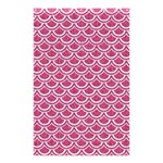 SCALES2 WHITE MARBLE & PINK DENIM Shower Curtain 48  x 72  (Small)  42.18 x64.8 Curtain