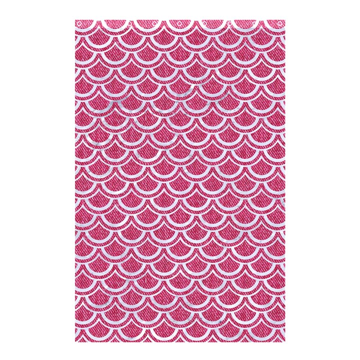 SCALES2 WHITE MARBLE & PINK DENIM Shower Curtain 48  x 72  (Small)