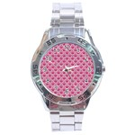 SCALES2 WHITE MARBLE & PINK DENIM Stainless Steel Analogue Watch Front