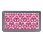 SCALES2 WHITE MARBLE & PINK DENIM Memory Card Reader (Mini) Front
