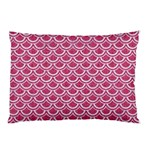 SCALES2 WHITE MARBLE & PINK DENIM Pillow Case (Two Sides) Front