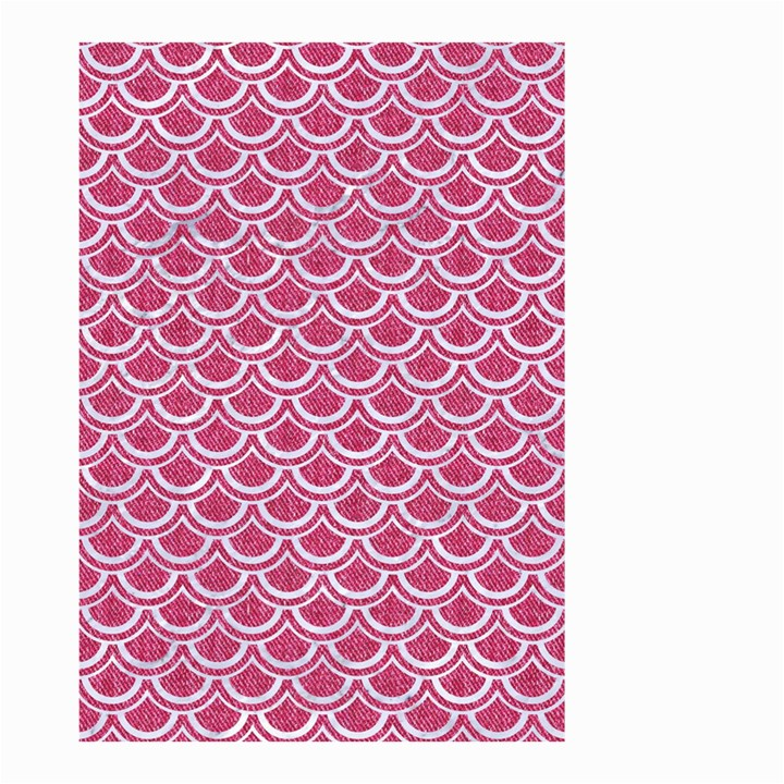 SCALES2 WHITE MARBLE & PINK DENIM Small Garden Flag (Two Sides)