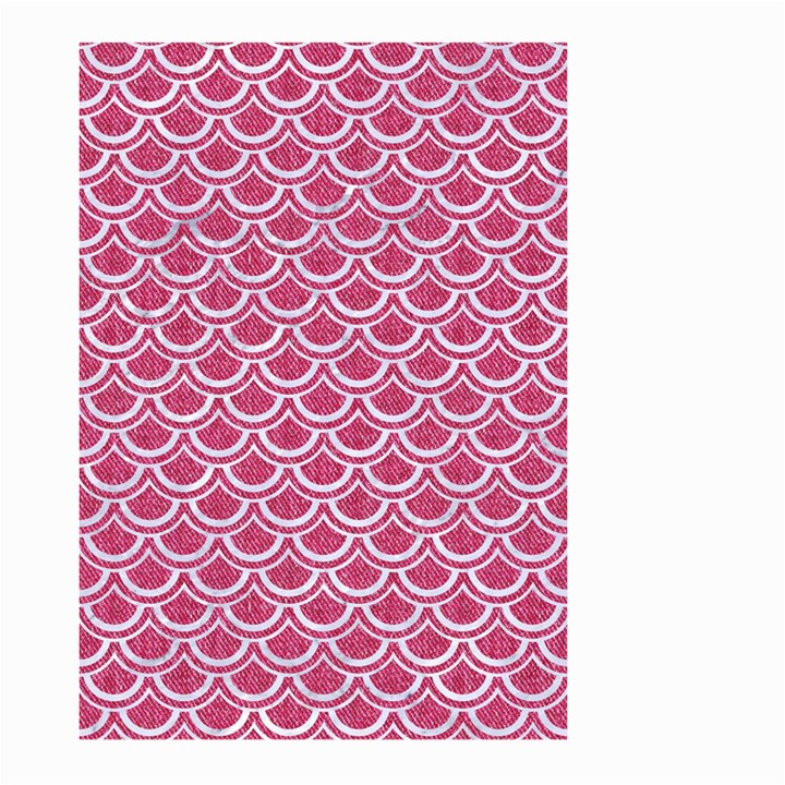 SCALES2 WHITE MARBLE & PINK DENIM Large Garden Flag (Two Sides)