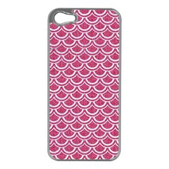 Scales2 White Marble & Pink Denim Apple Iphone 5 Case (silver)