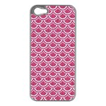 SCALES2 WHITE MARBLE & PINK DENIM Apple iPhone 5 Case (Silver) Front