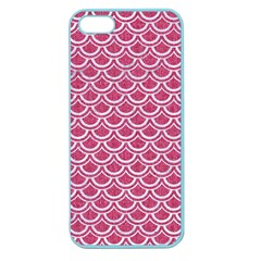 Scales2 White Marble & Pink Denim Apple Seamless Iphone 5 Case (color)
