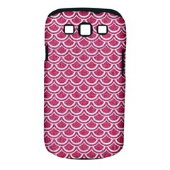 Scales2 White Marble & Pink Denim Samsung Galaxy S Iii Classic Hardshell Case (pc+silicone)