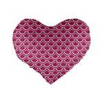 SCALES2 WHITE MARBLE & PINK DENIM Standard 16  Premium Heart Shape Cushions Back