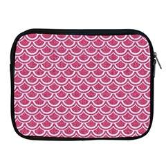Scales2 White Marble & Pink Denim Apple Ipad 2/3/4 Zipper Cases