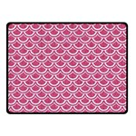 SCALES2 WHITE MARBLE & PINK DENIM Double Sided Fleece Blanket (Small)  45 x34 Blanket Back