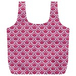 SCALES2 WHITE MARBLE & PINK DENIM Full Print Recycle Bags (L)  Front
