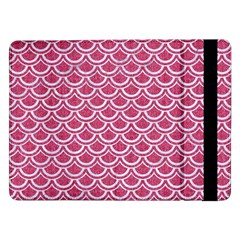 Scales2 White Marble & Pink Denim Samsung Galaxy Tab Pro 12 2  Flip Case