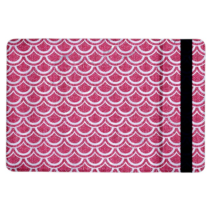 SCALES2 WHITE MARBLE & PINK DENIM iPad Air Flip