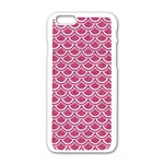 SCALES2 WHITE MARBLE & PINK DENIM Apple iPhone 6/6S White Enamel Case Front
