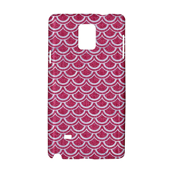 SCALES2 WHITE MARBLE & PINK DENIM Samsung Galaxy Note 4 Hardshell Case