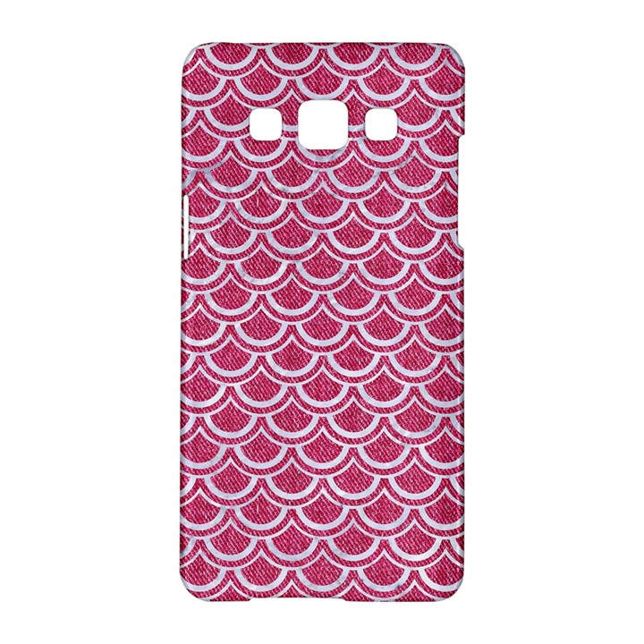 SCALES2 WHITE MARBLE & PINK DENIM Samsung Galaxy A5 Hardshell Case