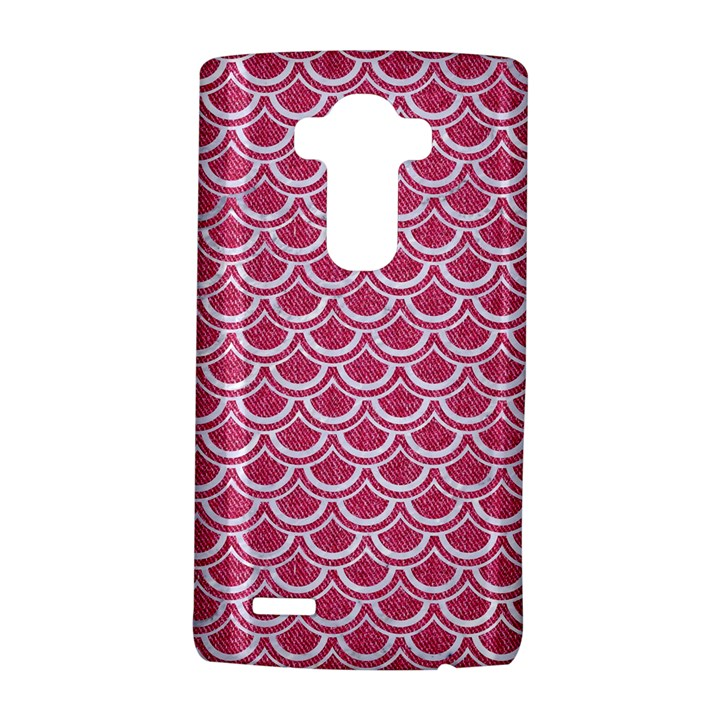 SCALES2 WHITE MARBLE & PINK DENIM LG G4 Hardshell Case