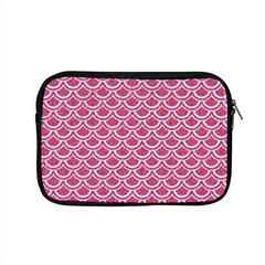 Scales2 White Marble & Pink Denim Apple Macbook Pro 15  Zipper Case