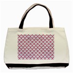 SCALES1 WHITE MARBLE & PINK DENIM (R) Basic Tote Bag Front