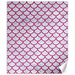 Scales1 White Marble & Pink Denim (r) Canvas 8  X 10