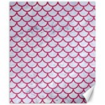 SCALES1 WHITE MARBLE & PINK DENIM (R) Canvas 8  x 10  10.02 x8 Canvas - 1