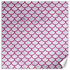 Scales1 White Marble & Pink Denim (r) Canvas 20  X 20