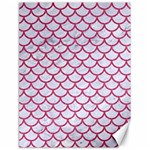 SCALES1 WHITE MARBLE & PINK DENIM (R) Canvas 18  x 24   24 x18 Canvas - 1
