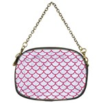 SCALES1 WHITE MARBLE & PINK DENIM (R) Chain Purses (One Side)  Front
