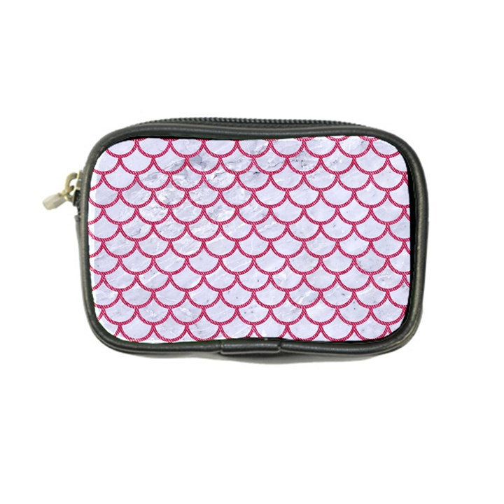 SCALES1 WHITE MARBLE & PINK DENIM (R) Coin Purse