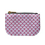 SCALES1 WHITE MARBLE & PINK DENIM (R) Mini Coin Purses Front