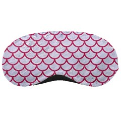 Scales1 White Marble & Pink Denim (r) Sleeping Masks
