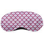 SCALES1 WHITE MARBLE & PINK DENIM (R) Sleeping Masks Front