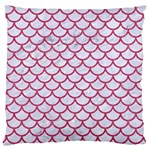 SCALES1 WHITE MARBLE & PINK DENIM (R) Large Cushion Case (One Side) Front