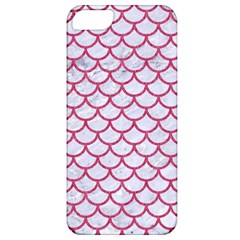 Scales1 White Marble & Pink Denim (r) Apple Iphone 5 Classic Hardshell Case
