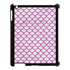Scales1 White Marble & Pink Denim (r) Apple Ipad 3/4 Case (black)