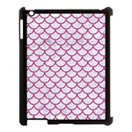 SCALES1 WHITE MARBLE & PINK DENIM (R) Apple iPad 3/4 Case (Black) Front