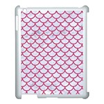 SCALES1 WHITE MARBLE & PINK DENIM (R) Apple iPad 3/4 Case (White) Front