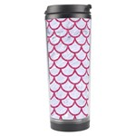 SCALES1 WHITE MARBLE & PINK DENIM (R) Travel Tumbler Center