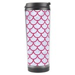 SCALES1 WHITE MARBLE & PINK DENIM (R) Travel Tumbler Right