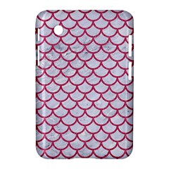 Scales1 White Marble & Pink Denim (r) Samsung Galaxy Tab 2 (7 ) P3100 Hardshell Case  by trendistuff