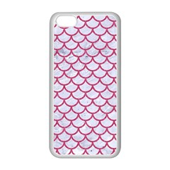 Scales1 White Marble & Pink Denim (r) Apple Iphone 5c Seamless Case (white)