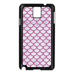 SCALES1 WHITE MARBLE & PINK DENIM (R) Samsung Galaxy Note 3 N9005 Case (Black) Front