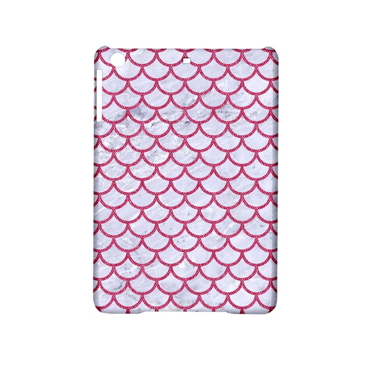 SCALES1 WHITE MARBLE & PINK DENIM (R) iPad Mini 2 Hardshell Cases