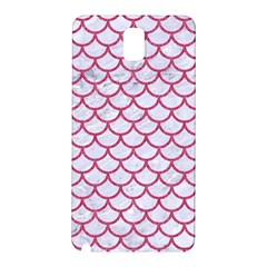 Scales1 White Marble & Pink Denim (r) Samsung Galaxy Note 3 N9005 Hardshell Back Case